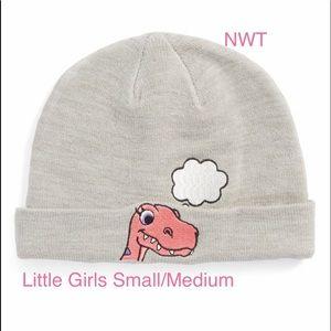 NWT Dino Beanie Age 4-6 100% Cotton Little Girls